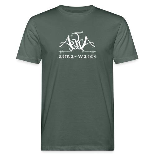 atma wares logo white - Mannen Bio-T-shirt