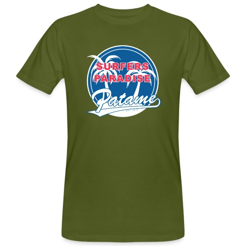 Patame Surfers Paradise BlueWhite - Männer Bio-T-Shirt