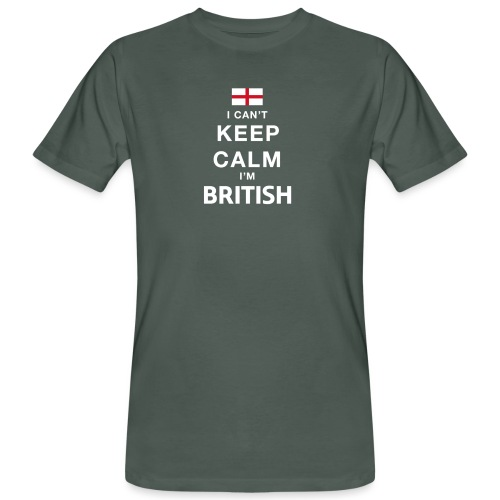 I CAN T KEEP CALM british - Männer Bio-T-Shirt