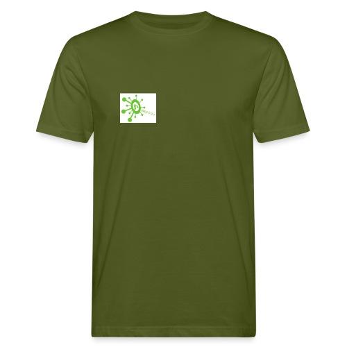 Begrüner Bio-Shirt Men weiß mit Logo - Männer Bio-T-Shirt