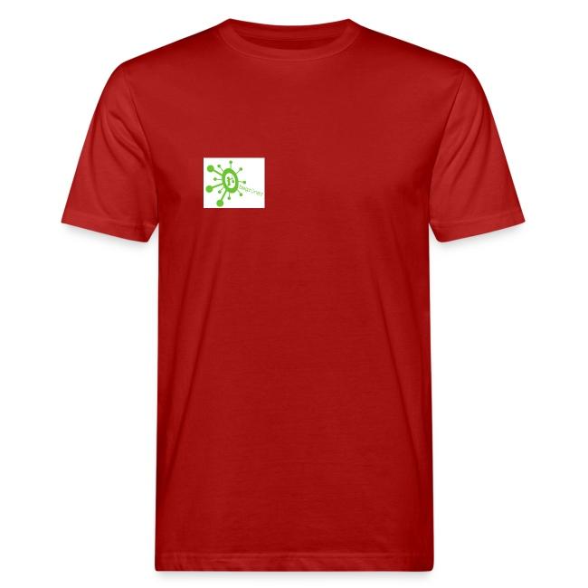 Begrüner Bio-Shirt Men weiß mit Logo