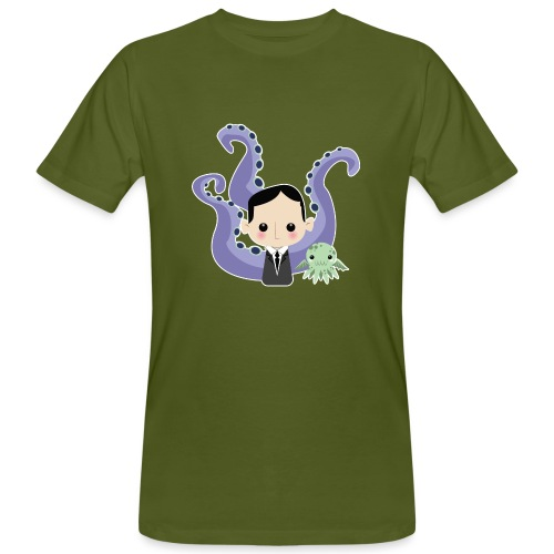 Lovecraft and Cthulhu - T-shirt ecologica da uomo