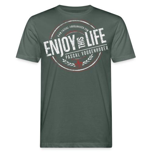 Enjoy this Life® & Fleur de Lys Pascal Voggenhuber - Männer Bio-T-Shirt
