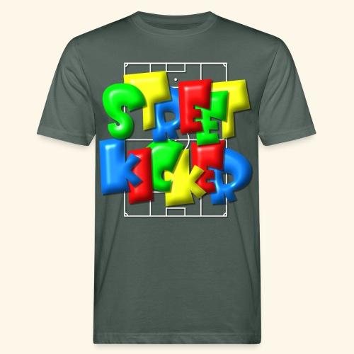 Streek Kicker im Fußballfeld - Balloon-Style - Männer Bio-T-Shirt