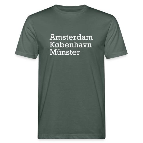 Fahrradstädte - Männer Bio-T-Shirt