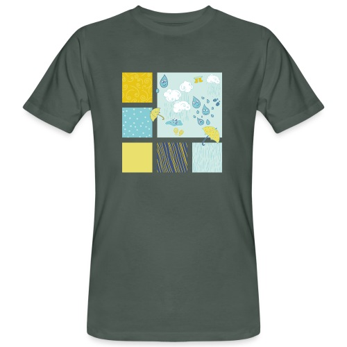 Sommerregen Liebe - Männer Bio-T-Shirt