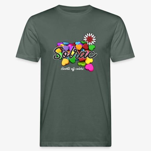 SOLRAC Hearts black - Camiseta ecológica hombre