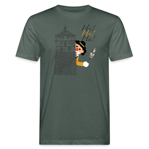 Hu! Hu! Hu! Schwarzgelber Clown am Schwarzen Tor - Männer Bio-T-Shirt