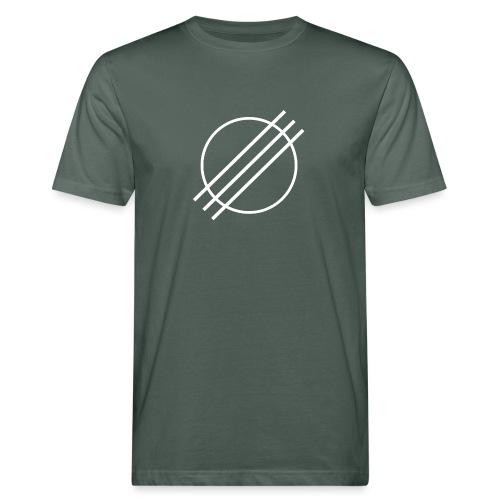 DJ Øyvind Offisiell Logo (hvit) - Økologisk T-skjorte for menn