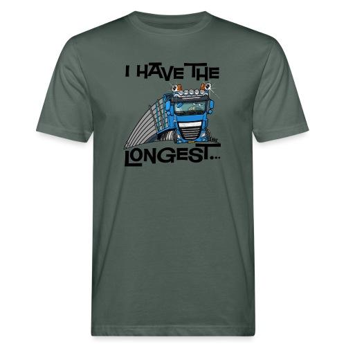 0700 D Truck I have the longest loads (FRONT+BACK) - Mannen Bio-T-shirt