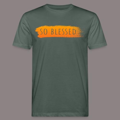so blessed orange - Männer Bio-T-Shirt