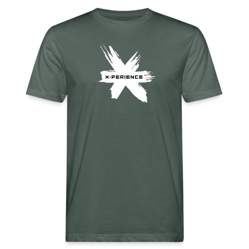 x-perience Logo weiß - Männer Bio-T-Shirt