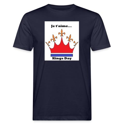 Je taime Kings Day (Je suis...) - Mannen Bio-T-shirt