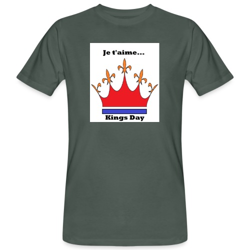 Je taime Kings Day (Je suis...) - Mannen Bio-T-shirt