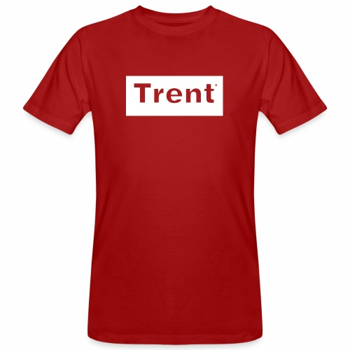 TRENT classic white block - Men's Organic T-Shirt
