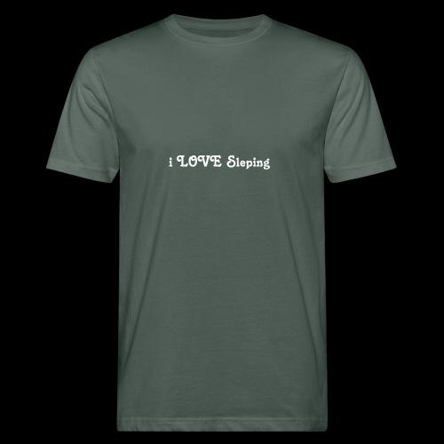 i love sleeping weiss - T-shirt ecologica da uomo
