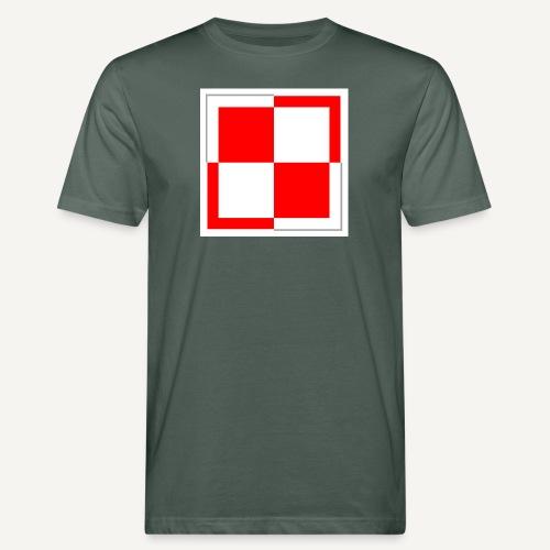 szachownica - Ekologiczna koszulka męska