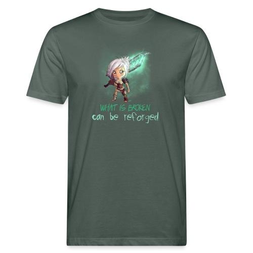Chibi Riven con scritta - T-shirt ecologica da uomo