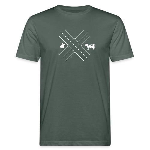 Kruising tussen een konijn en een koe - Mannen Bio-T-shirt