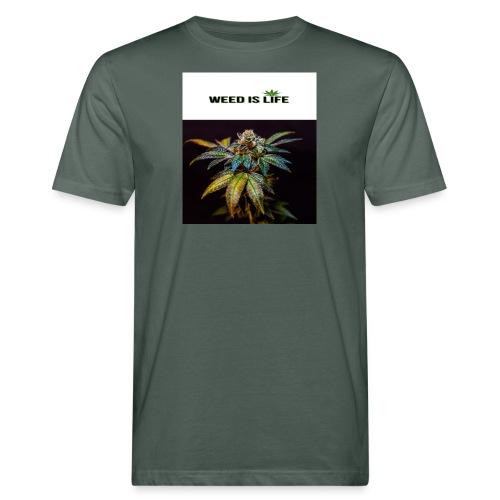 WEED IS LIFE - Männer Bio-T-Shirt