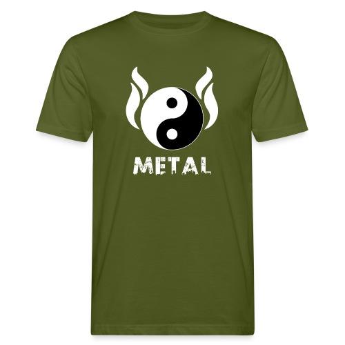 YIN YANG METAL - Männer Bio-T-Shirt