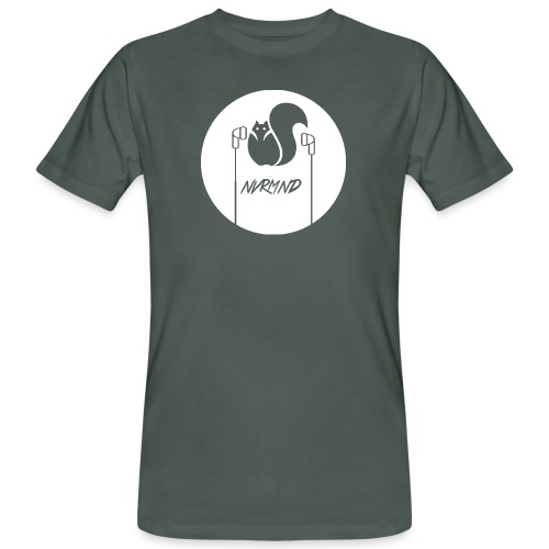 WHITE LOGO - Männer Bio-T-Shirt
