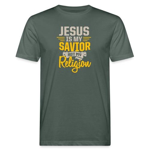 Jesus ist mein Erlöser - Männer Bio-T-Shirt