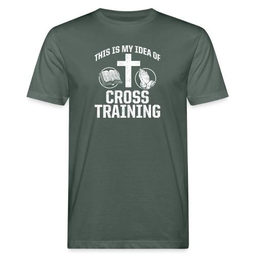 Sport mit Jesus und Bibel lesen Christen Spruch - Männer Bio-T-Shirt