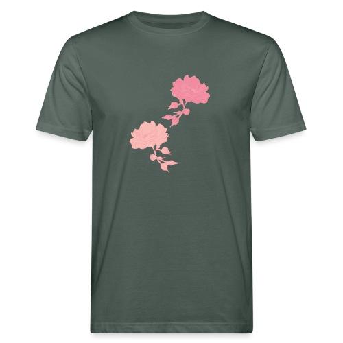 romance isn't dead Rosen - Männer Bio-T-Shirt