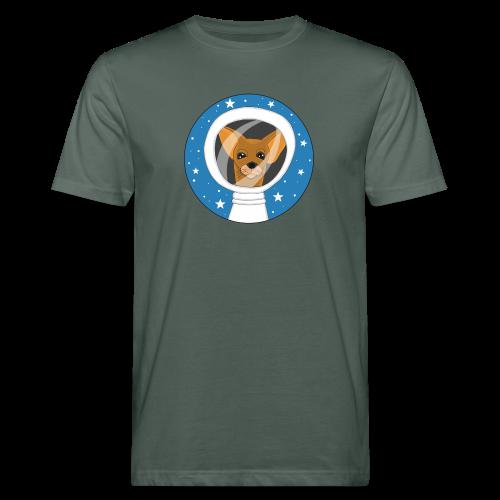 Fifi der Hunde Astronaut im Weltall - Männer Bio-T-Shirt