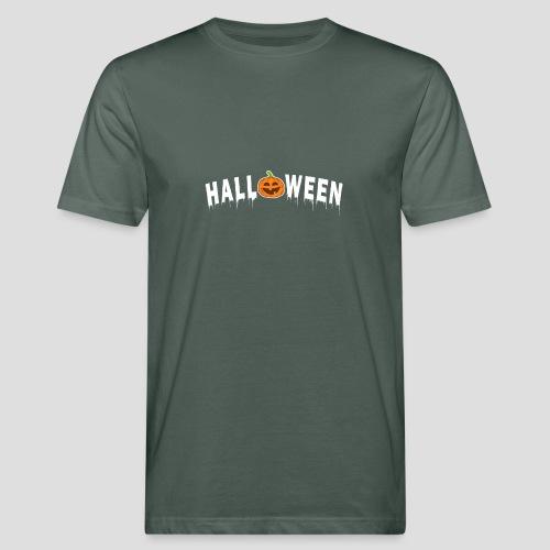 HALLOWEEN - mit Kürbis in Weiß - Männer Bio-T-Shirt