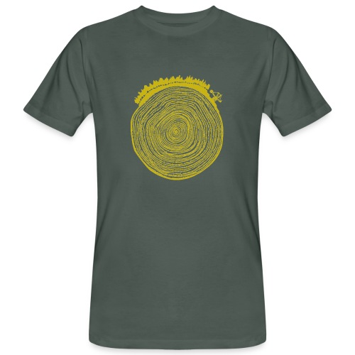 Kattoo Gelb - Männer Bio-T-Shirt