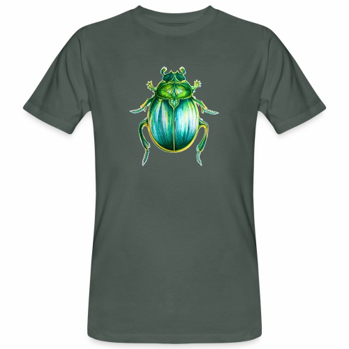 Skarabäus Lineart - Männer Bio-T-Shirt