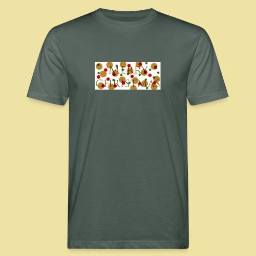 merry-christmas Logo Geschenk - Männer Bio-T-Shirt