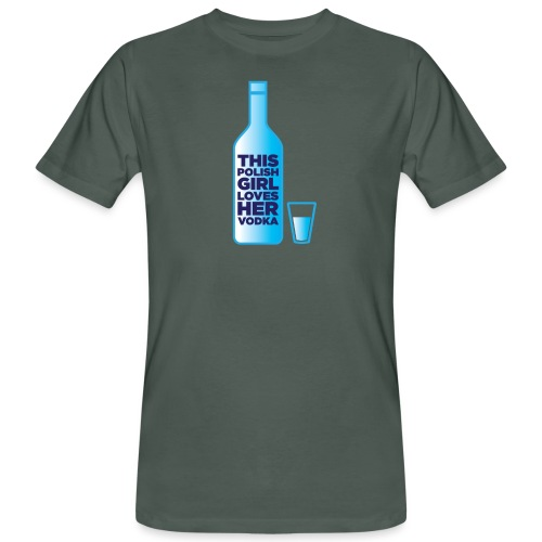 Girl loves Vodka - Männer Bio-T-Shirt