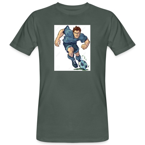 41982995-Vector-de-dibujos-animados-ilustraci-n-de - Camiseta ecológica hombre