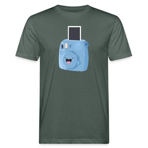 Appareil photo instantané bleu - T-shirt bio Homme