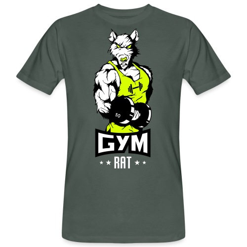 GYM RAT - Fitness Ratte - Männer Bio-T-Shirt