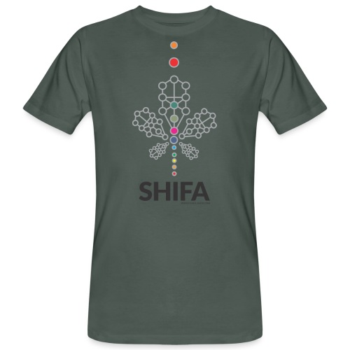 shifa leaf 12 chakra t shirt - Camiseta ecológica hombre