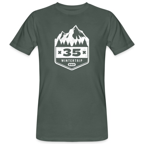 35 ✕ WINTERTRIP ✕ 2021 - Mannen Bio-T-shirt