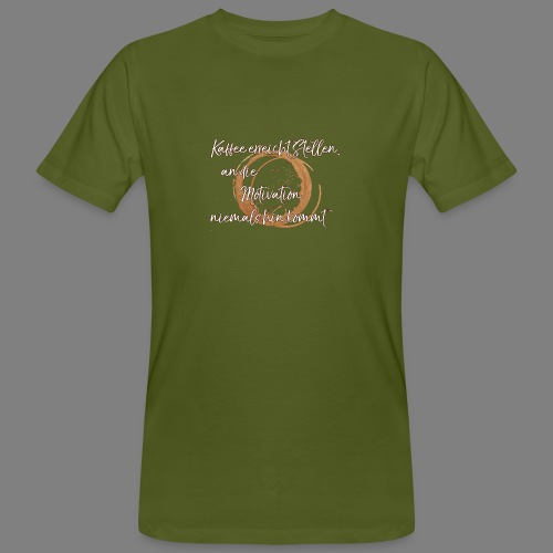 Kaffee - Männer Bio-T-Shirt