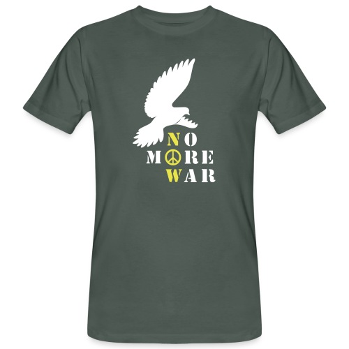 No More War Now Silhouette - Männer Bio-T-Shirt