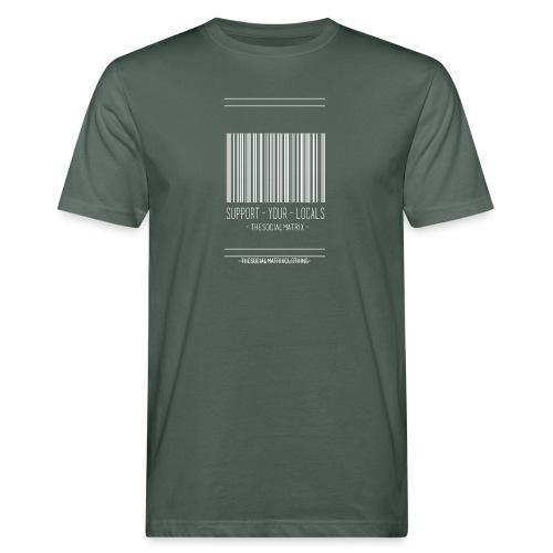 STEUN JE PLAATSELIJKE [WIT] - Mannen Bio-T-shirt