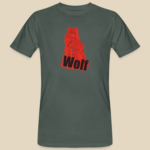 Red Wolf - T-shirt bio Homme