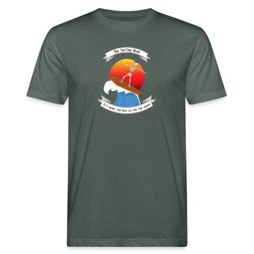 Skeleton surfing on coffin lid - T-shirt ecologica da uomo