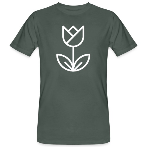 Tulip white png - Men's Organic T-Shirt