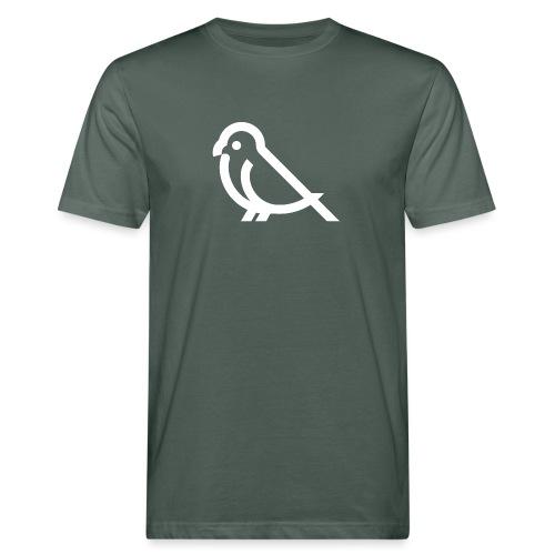 bird weiss - Männer Bio-T-Shirt
