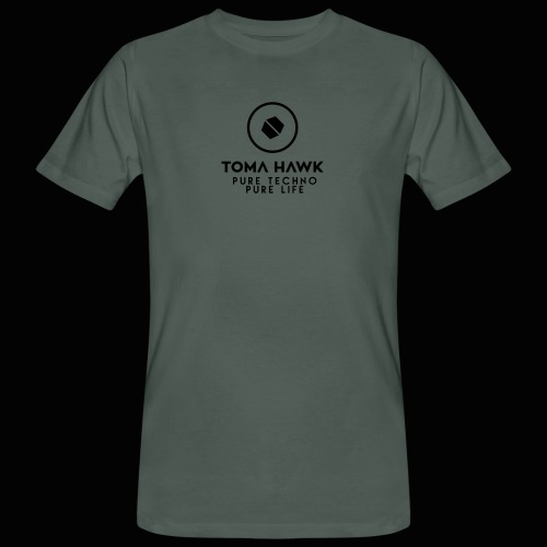 Toma Hawk - Pure Techno - Pure Life Black - Männer Bio-T-Shirt