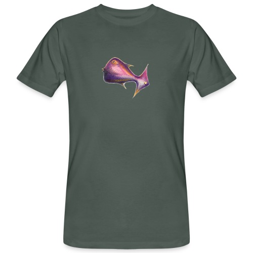 Wegweiser Fisch - Männer Bio-T-Shirt