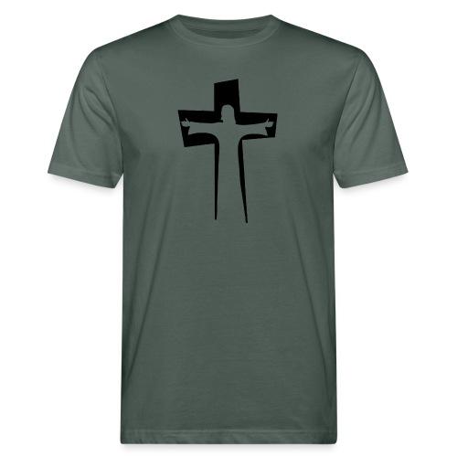 Abstrakt Jesus på korset - Ekologisk T-shirt herr